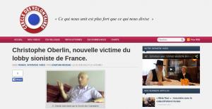 """L'entretien de Christophe Oberlin avec le site d'extrême-droite """"Le cercle des volontaires"""""""