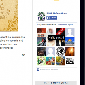 Capture sur le site de PSM