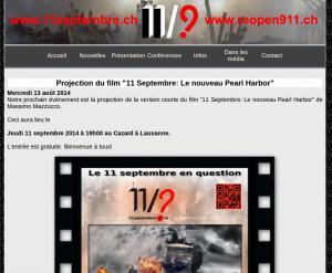 Annonce de la conférence sur 11septembre.ch