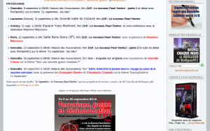 Programme de la campagne sur le site de ReOpen911