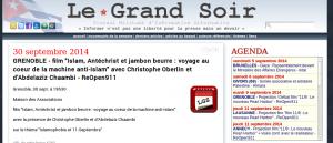 """une information""""""""reprise"""""""" par le site d'extrême-droite LeGrandSoir"""