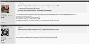 Capture sur le forum de ReOpen911