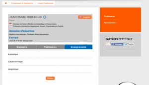 La fiche de Jean-Marc Buissoud sur le site de GEManagement