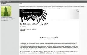 En 2011 sur le forum de ReOpen911, la publication est suivi d'un compte rendu et de leurs impressions...