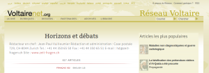 Horizons et Débats sur le site du Réseau Voltaire