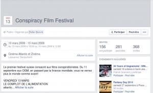 Evennement Facebook Organisé par Didier Bonvin