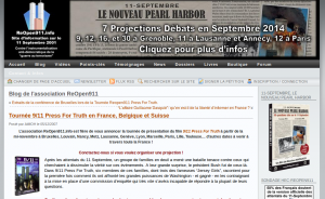 "Tournée de ""9/11 press for truth"" sur ReOpen911"