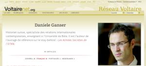 Daniele Ganser sur le Réseau Voltaire