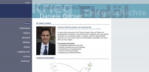 Les site personel de Daniele Ganser