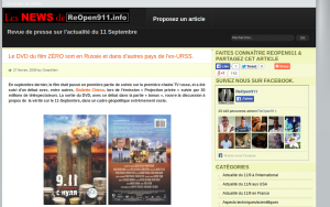Le post de GeantVert sur ReOpen911