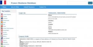 Christophe Terrasson sur la France Business Database