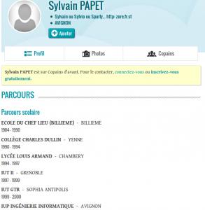 Sylvain Papet sur Copaindavant