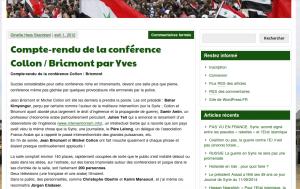 """Le compte rendu de Yves Ducourneau sur """"La voix de la Syrie"""""""