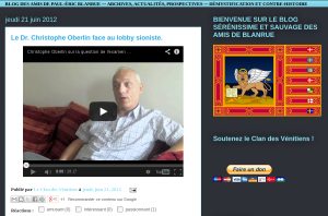 """L'entretien en question sur le blog des """"amis de Blanrue"""""""