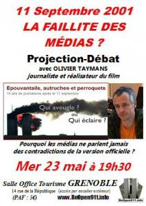 Affiche de la projection/débat du 23 Mai 2012