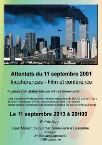 L'affiche de la conférence à Lausanne