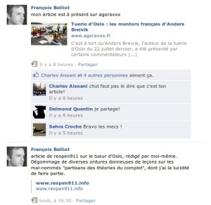 Belliot sur ReOpen911 (http://conspishorsdenosvies.noblogs.org/post/2011/09/09/reopen911-porte-ouverte-vers-l-extreme-droite/)
