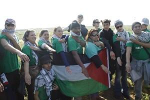 photo prise en 2012 à Gaza où des membres d'Europalestine étaient allés soutenir le Hamas