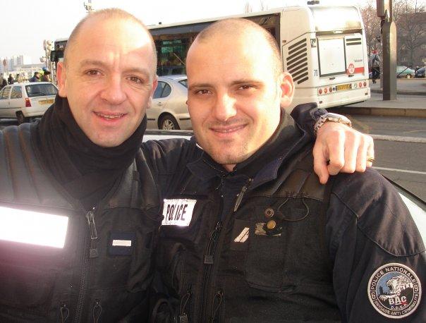 Les policiers racistes de la BAC 69 (à droite Alexandre Paraskevopoulos)
